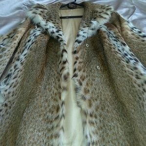 Bobcat fur coat size s to m
